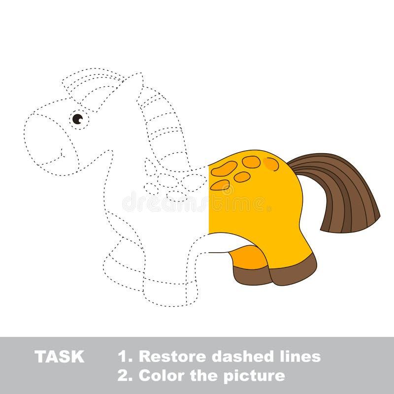 Häst som ska färgas Vektorspårlek royaltyfri illustrationer