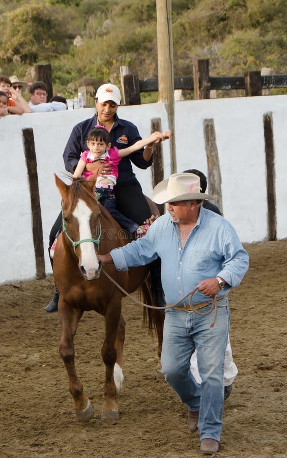 Häst- terapi arkivbilder