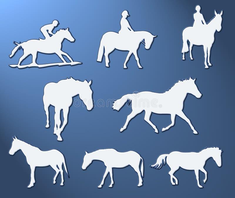 hästar stock illustrationer