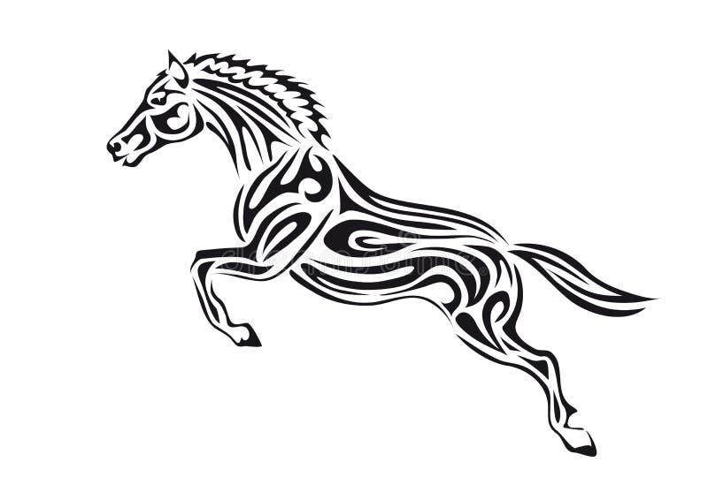 hästbanhoppning vektor illustrationer
