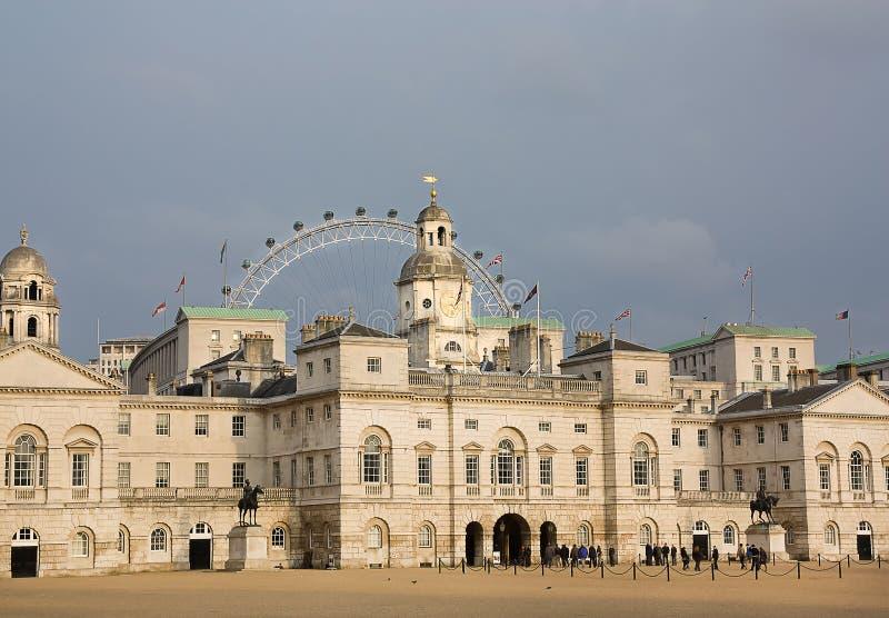 HästGuards ståtar (London) royaltyfri foto