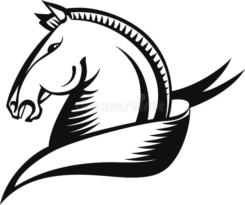 Hästhuvud stock illustrationer