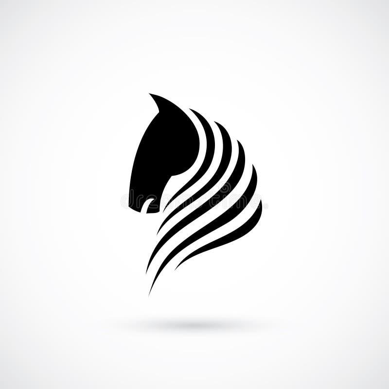 Hästhuvud vektor illustrationer