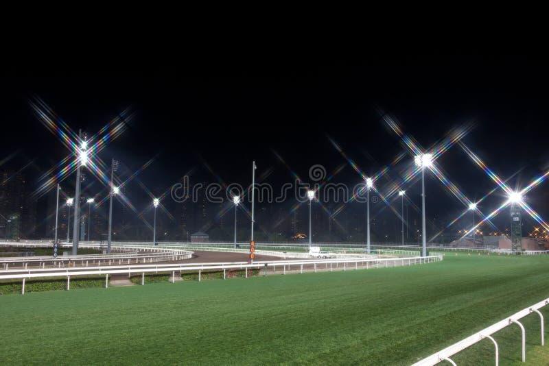 hästkapplöpningspår arkivfoto