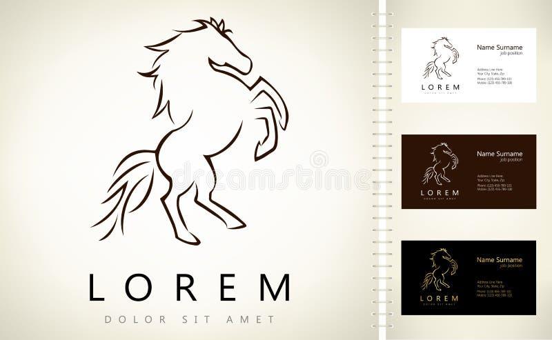 Hästlogo royaltyfri illustrationer