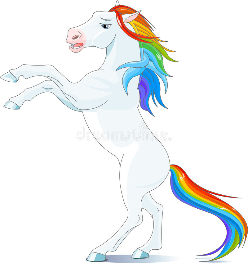 hästregnbåge stock illustrationer