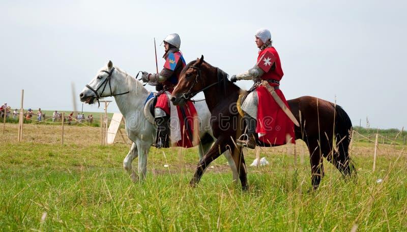 hästriddare royaltyfria foton