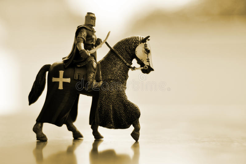 hästriddare royaltyfria bilder