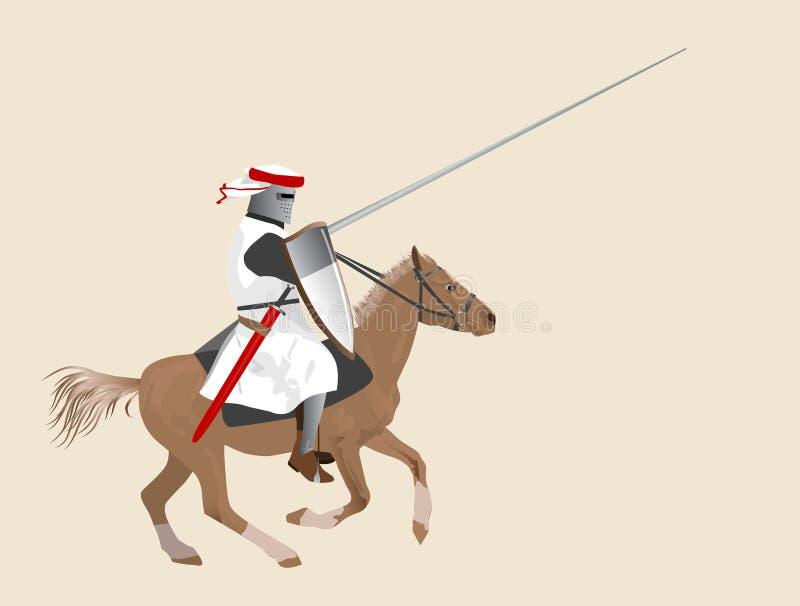 hästriddare stock illustrationer