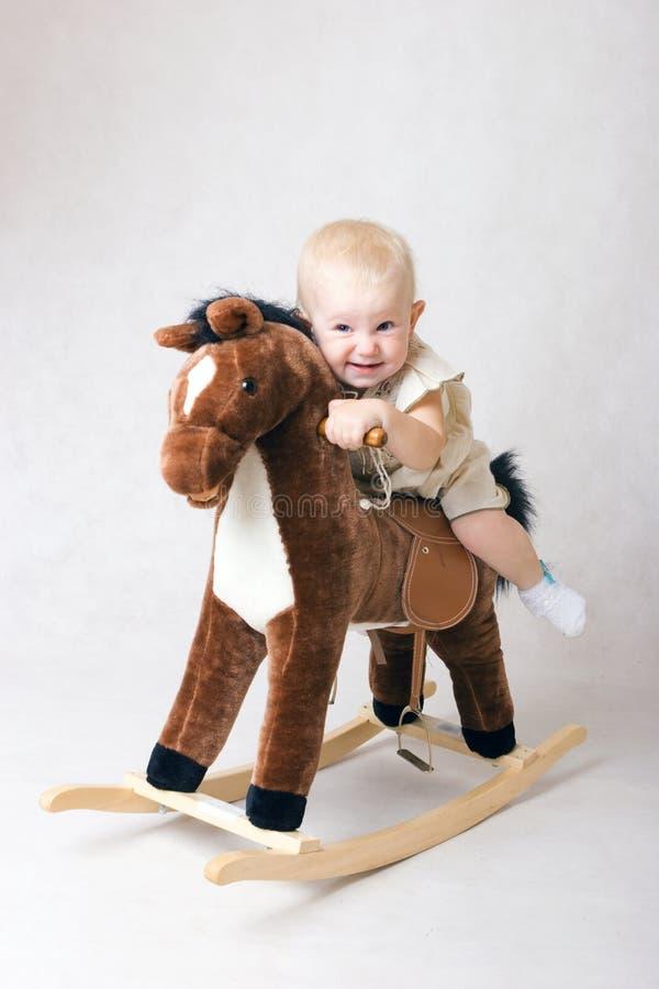 hästridningtoy arkivfoto