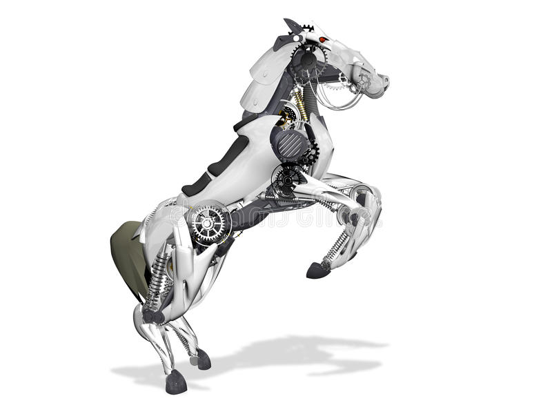 Hästrobot stock illustrationer