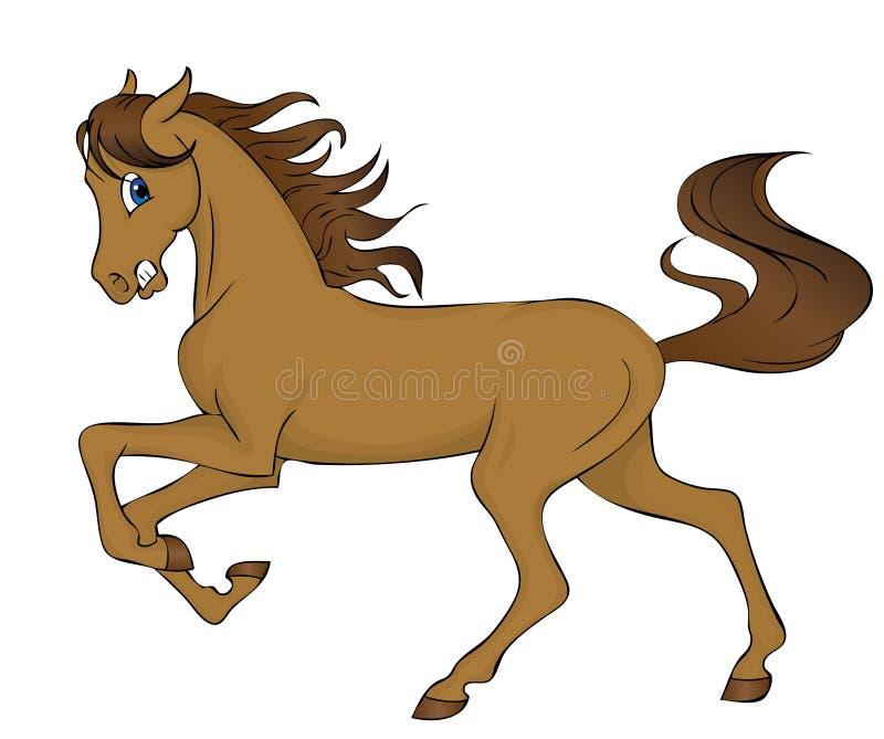 hästruninng royaltyfri illustrationer