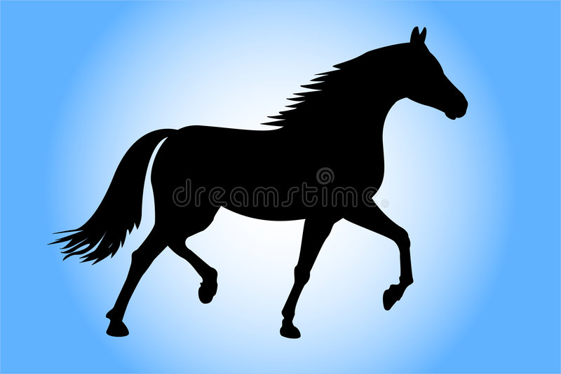 hästrunning royaltyfri illustrationer