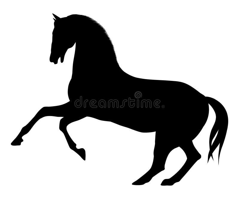 hästsilhouette stock illustrationer