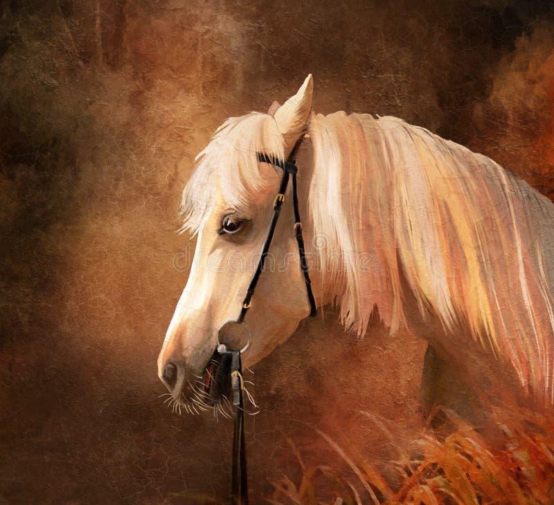 häststående stock illustrationer