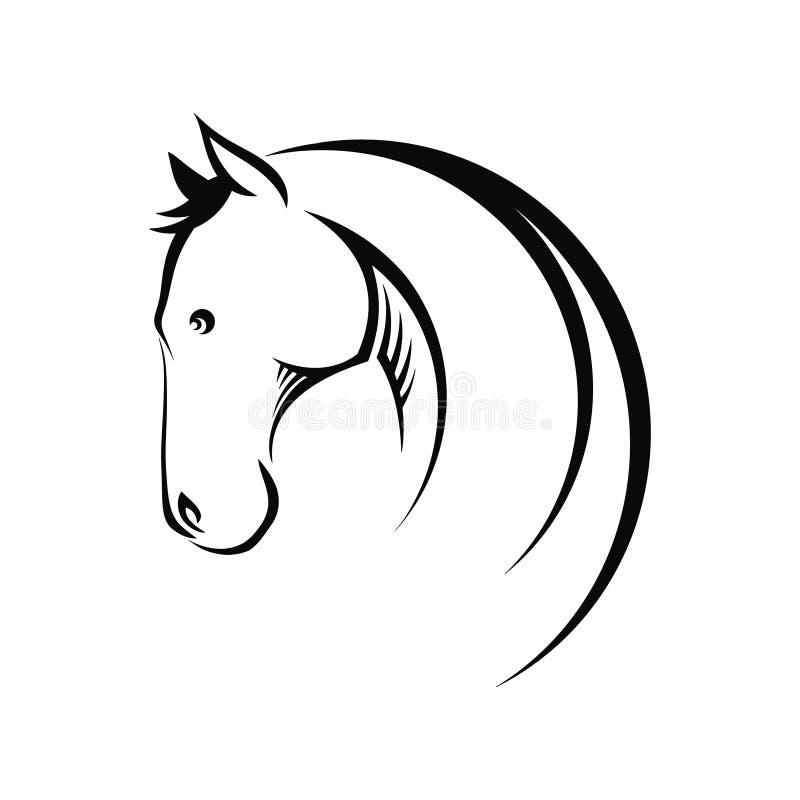Hästsymbol stock illustrationer