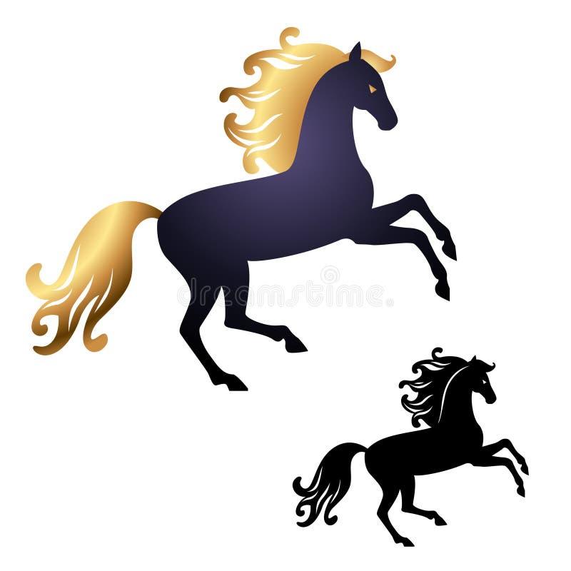Hästsymbol 2014 stock illustrationer
