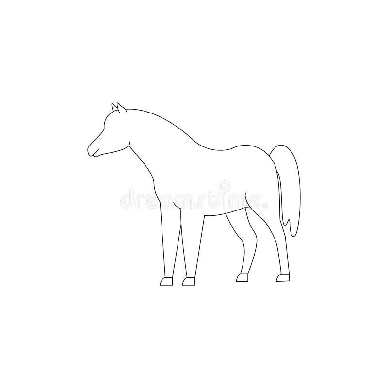 Hästsymbol vinnaren av djuret stock illustrationer