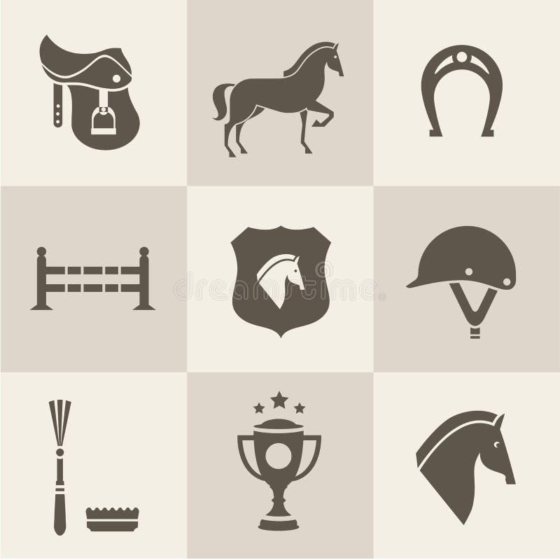 Hästsymboler royaltyfri illustrationer