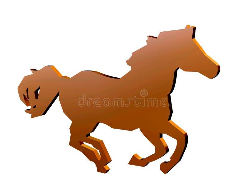 hästtecken royaltyfri illustrationer
