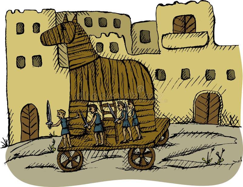 hästtrojan arkivbild