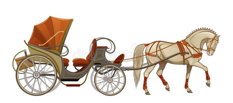 Hästvagn royaltyfri illustrationer