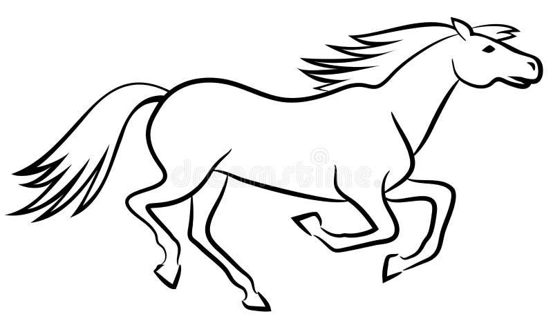 Hästvektoröversikt royaltyfri illustrationer