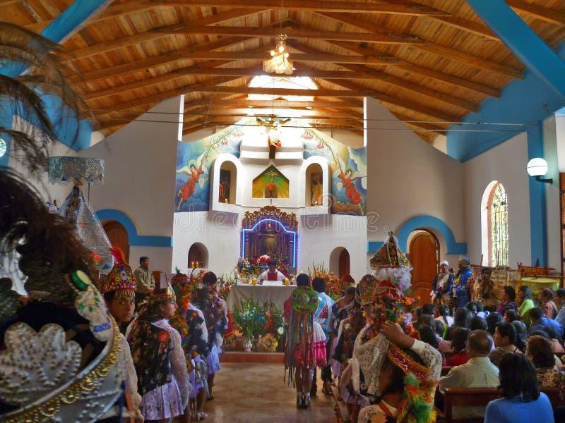 Häufen Sie auf der Festlichkeit der Jungfrau der Geburt Christi - Cusco an stockbilder