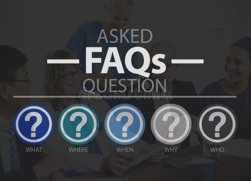 Häufig gestellte Fragen, die um Antwort-Wartekonzept bitten lizenzfreies stockbild