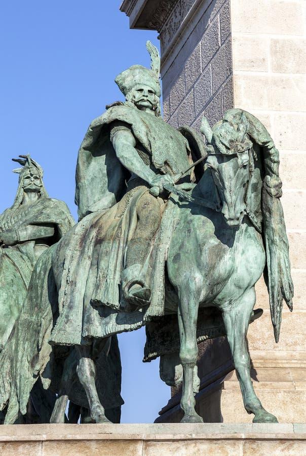 Häuptlinge des Quadrats des Helden, Budapest stockfotografie