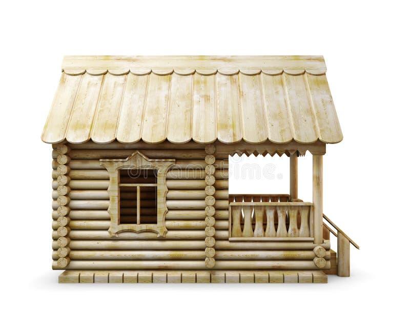 Häuschen im Dorf auf einem weißen Hintergrund lizenzfreie abbildung