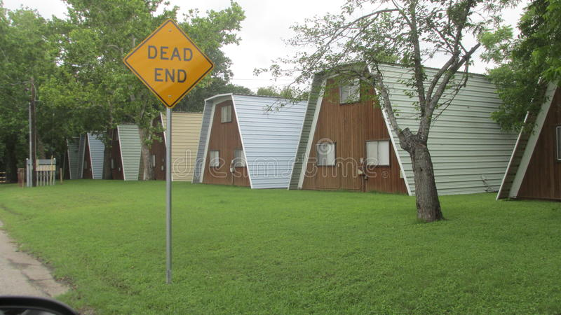Häuschen in neuem Braunfels Texas stockbild