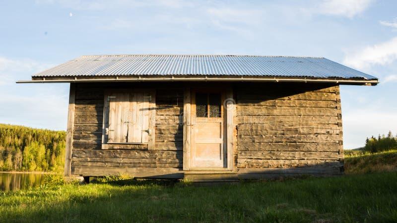 Häuschen in Schweden stockfoto