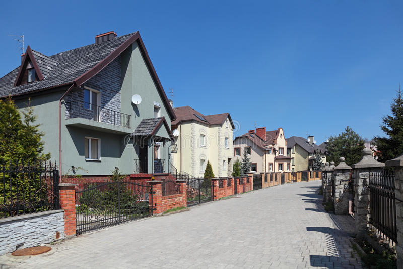 Häuschendorf stockfoto