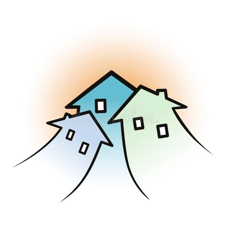 Häuser stock abbildung