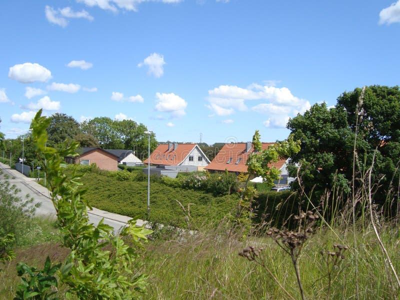 Häuser in Aalborg in Dänemark lizenzfreie stockfotos