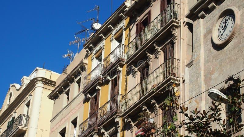 Häuser in Barcelona stockfotografie
