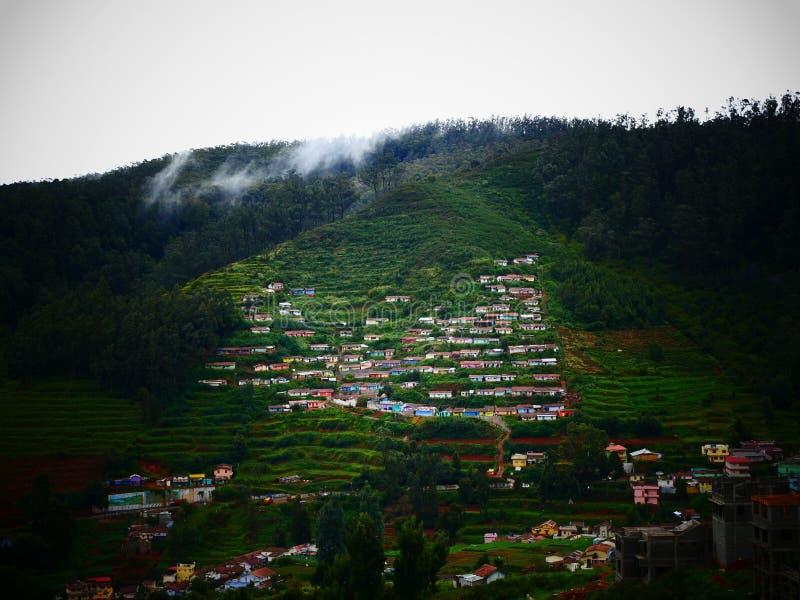 Häuser in Coorg, Indien lizenzfreie stockfotos