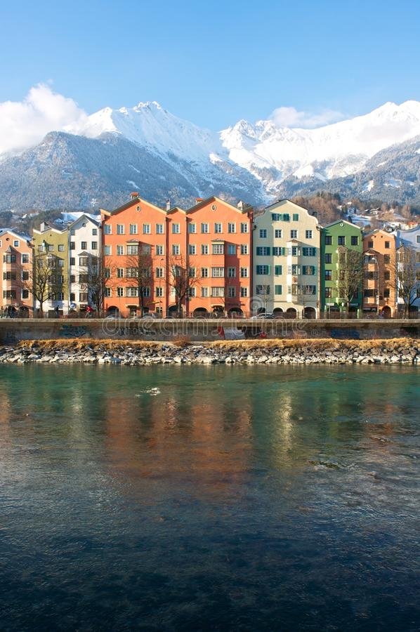 Häuser in der historischen Stadt Innsbruck in Tirol