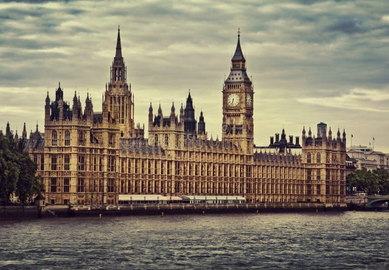 Häuser des Parlaments, London stockbild