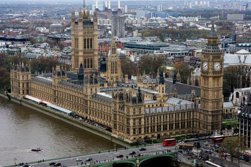 Häuser des Parlaments in London, England. stockfotografie