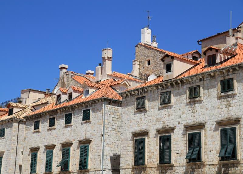 Häuser, Dubrovnik, Kroatien Stockfotografie