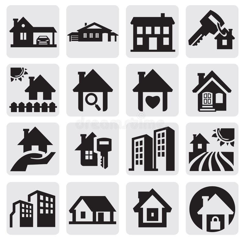 Download Häuser eingestellt vektor abbildung. Illustration von zustand - 26352184
