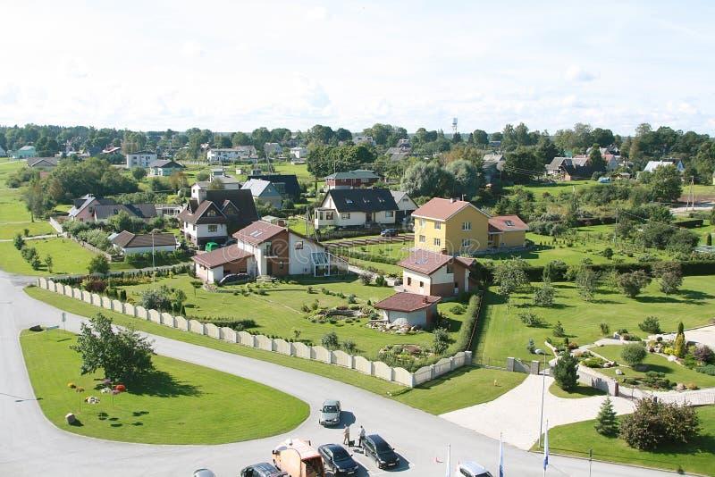 Häuser in Estland stockfotos