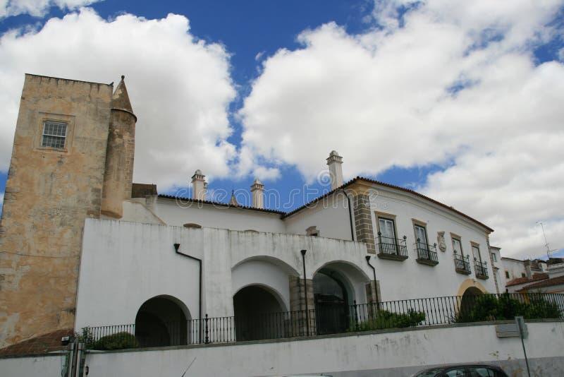 Häuser in Evora, Portugal stockbild