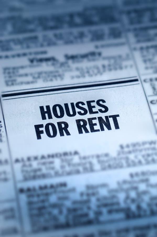 Häuser für Miete Classifieds stockfotos