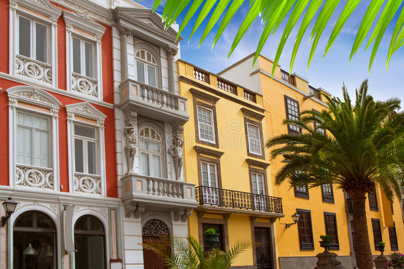 Häuser Las- Palmasde Gran Canaria Veguetal stockfotografie