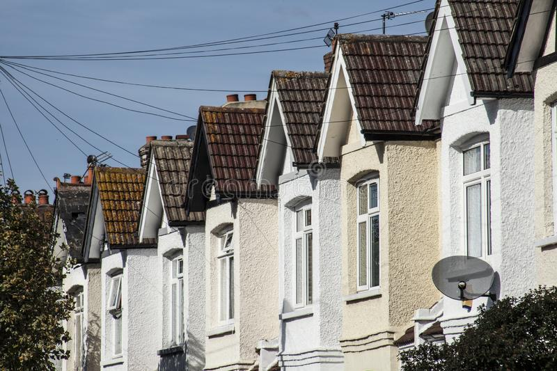 Häuser in London - ein sonniger Tag im September stockbilder