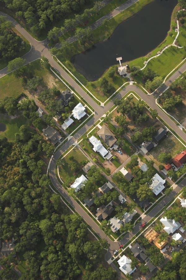 Häuser, Luftaufnahme lizenzfreie stockbilder