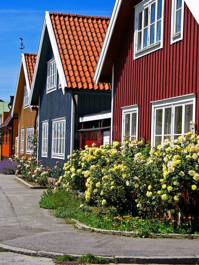 Häuser in rohem lizenzfreie stockfotografie